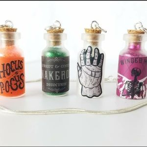 Halloween Themed Pixie Bottle Necklaces